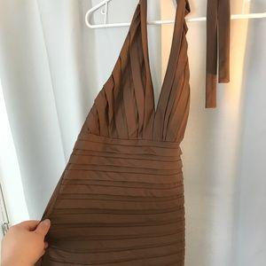 Dresses & Skirts - Brown form fitting dress